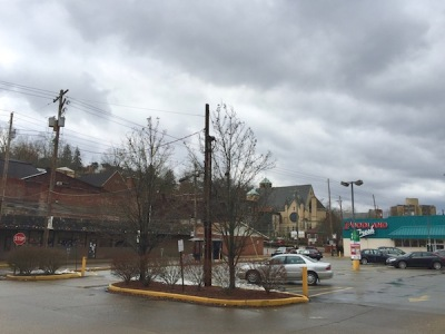 parking lot of Foodland grocery store, Monessen, PA