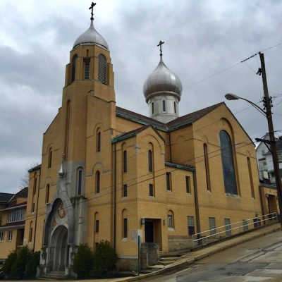 exterior of St. Nicholas Ukrainian Orthodox Church, Monessen, PA
