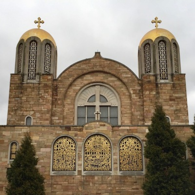 exterior of St. Mary's Byzantine Church of the Assumption, Monessen, PA