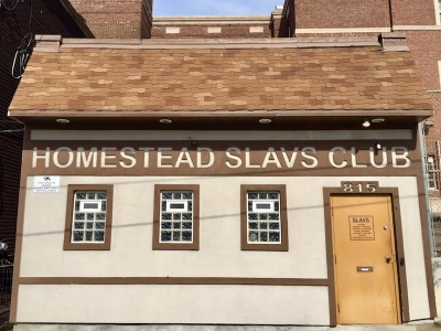 exterior of Homestead Slavs Club, Homestead, PA