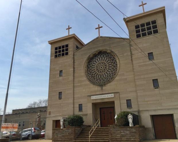 exterior of St. Maximillian-Kolbe Catholic church, Homestead, PA
