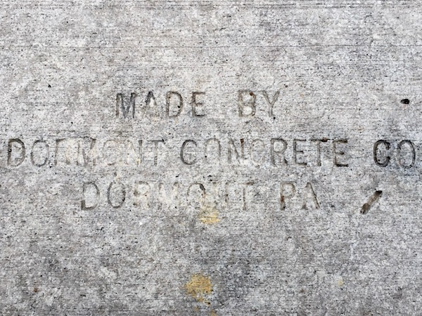 sidewalk stamp for Dormont Concrete Co., Pittsburgh, PA