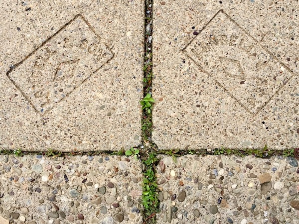 pair of sidewalk stamps by Langell & Son, Millvale, PA