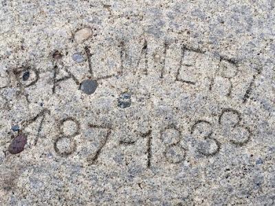 """Palmieri"" sidewalk stamp, Pittsburgh, PA"