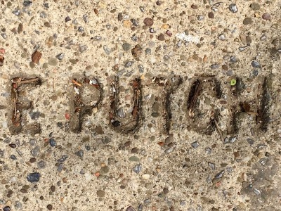 sidewalk stamp for E. Putch, Pittsburgh, PA