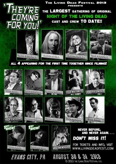 poster advertising 2013 Living Dead Festival in Evans City, PA