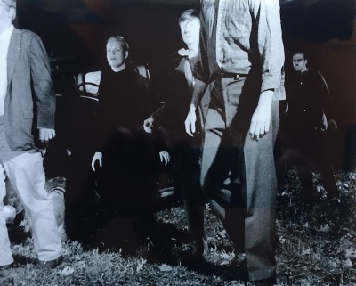 "still from ""Night of the Living Dead"" with zombies"