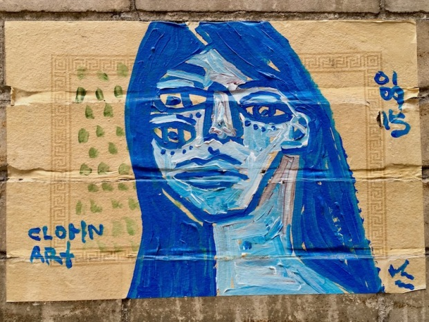 street art painting of woman with three eyes, Pittsburgh, PA