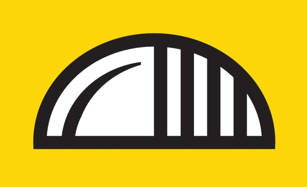 proposal for Pittsburgh city flag by Paul Schifino with image of pierogie shape and bridge elements