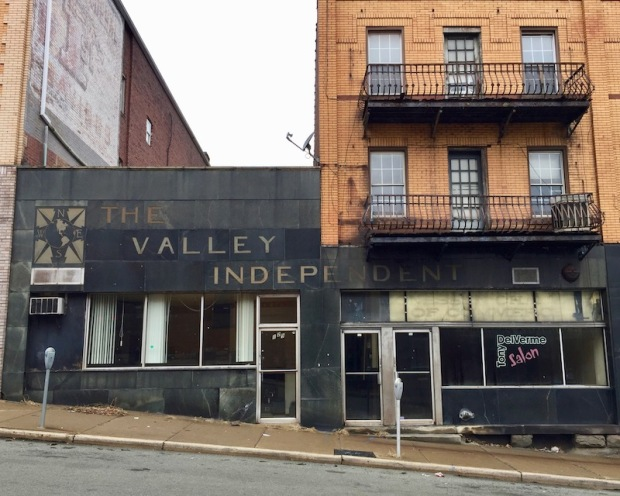 former office of The Valley Indpendent newspaper, Monessen, PA