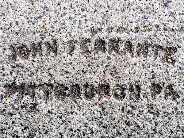 sidewalk stamp for mason John Ferrante, Pittsburgh, PA