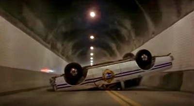 "scene from the film ""Striking Distance"" of Armstrong Tunnel, Pittsburgh, PA"