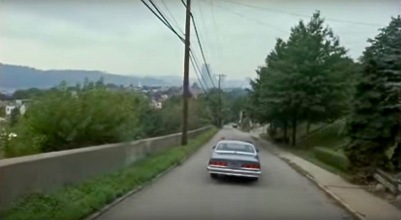 "scene from the film ""Striking Distance"" of residential street in Pittsburgh, PA"
