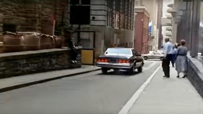 "scene from the film ""Striking Distance"" of alley in downtown Pittsburgh, PA"