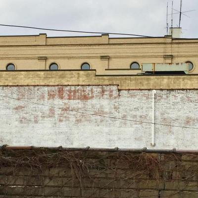 roofline with several commercial buildings, Charleroi, PA