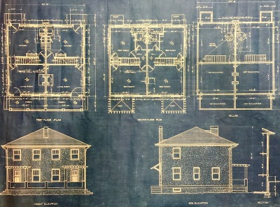blueprints for cement house, Donora Smog Museum