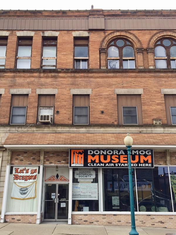 exterior of the Donora Smog Museum