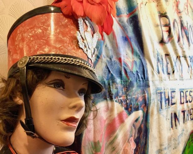 mannequin with majorette uniform, Donora Smog Museum