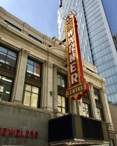façade of former Warner Theatre, downtown Pittsburgh, PA