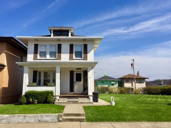 2-story cement house with large side yard, Donora, PA
