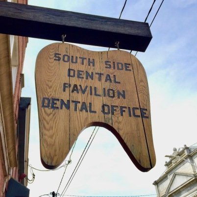 wooden dentist's sign in the shape of a tooth, Pittsburgh, PA