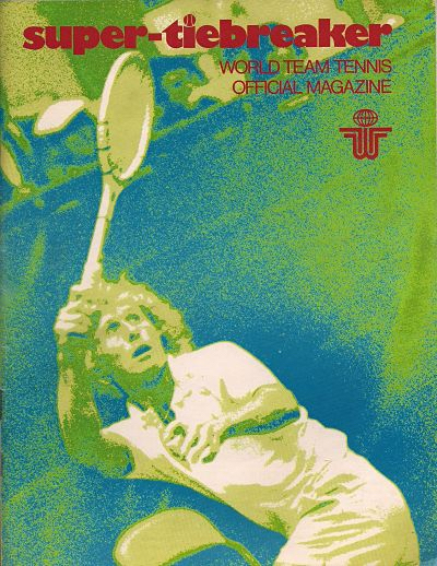 cover of 1976 Super-Tiebreaker magazine with tennis star Vitas Gerulaitis on the cover