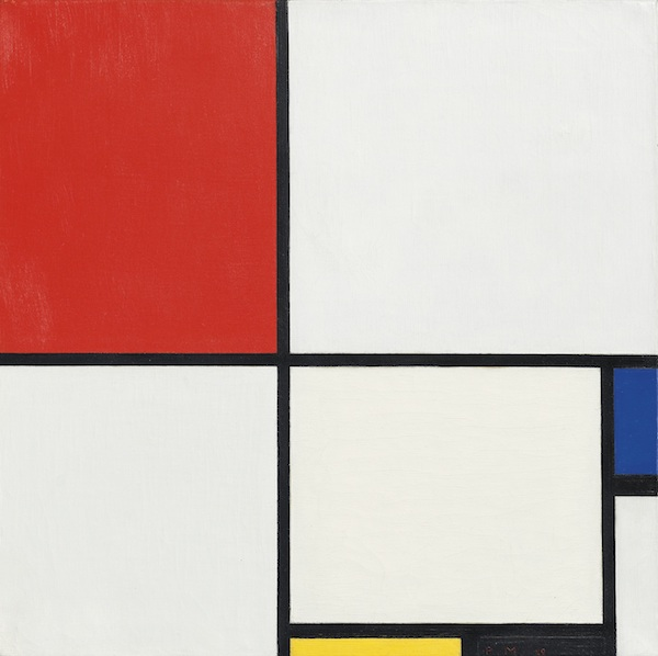 """Piet Mondrian's painting """"Composition No. III, with-Red, Blue, Yellow, and Black"""""""