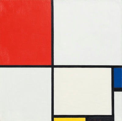 "Piet Mondrian's painting ""Composition No. III, with-Red, Blue, Yellow, and Black"""
