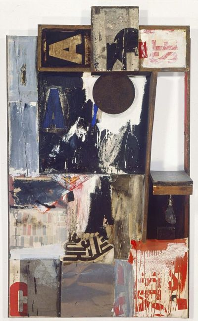 mixed media/collage artwork by Robert Rauschenberg