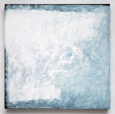 "minimalist painting ""Series #14 (White)"" by Robert Ryman"