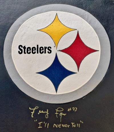 roof of Kasunick Steeler car signed by Frenchy Fuqua