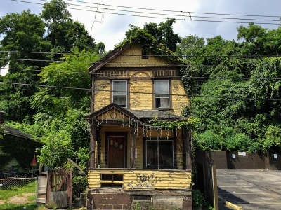 older wood frame house in McKeesport, PA