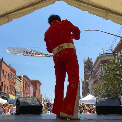 singer Randy Galioto performering at Bloomfield Little Italy Days, Pittsburgh, PA