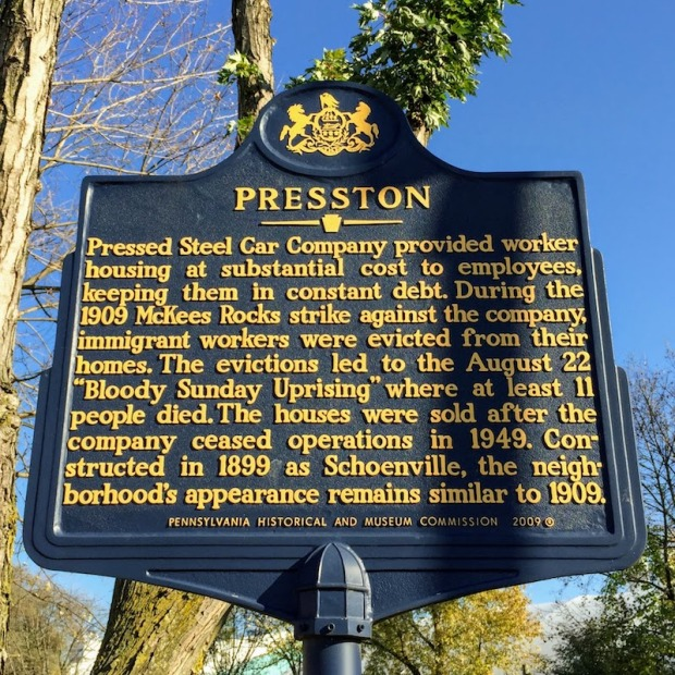 Pennsylvania state historical marker for Presston