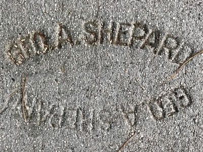 sidewalk stamp for Geo. A. Shepard