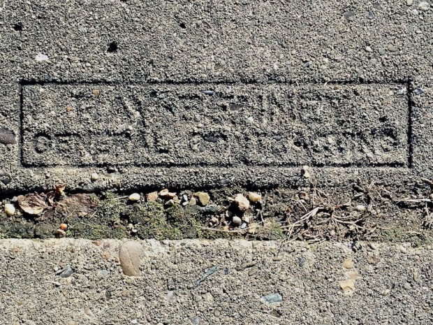 sidewalk stamp for Ray Benney, Pittsburgh, PA