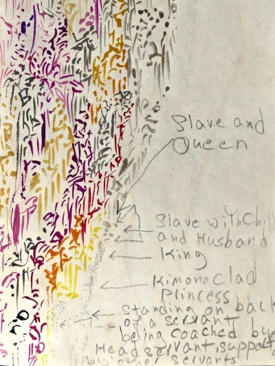 detail from notebook of Parvaneh Torkamani