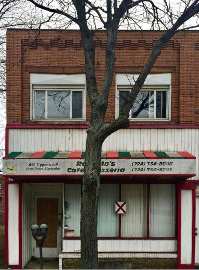 exterior of former Rosario's Pizzeria, New Kensington, PA