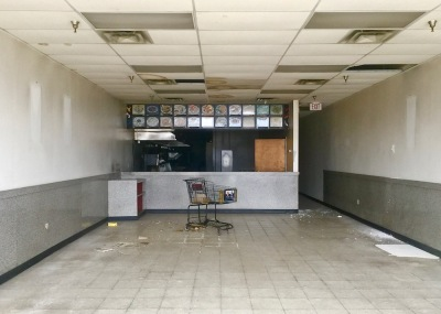 interior of vacant Chinese restaurant in Northern Lights Shopping Center, Baden, PA