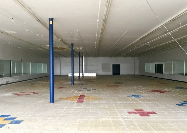 interior of vacant retail space in Northern Lights Shopping Center, Baden, PA