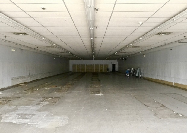 vacant retail space in former Northern Lights Shopping Center, Conway, PA