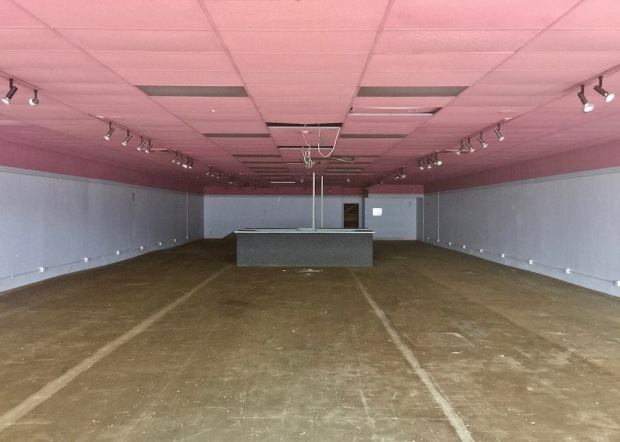 empty retail space in shopping mall, Baden, PA
