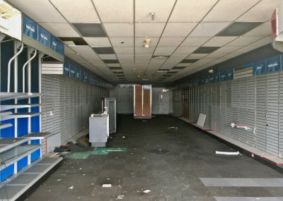 vacant former Radio Shack store in former Northern Lights Shopping Center, Conway, PA
