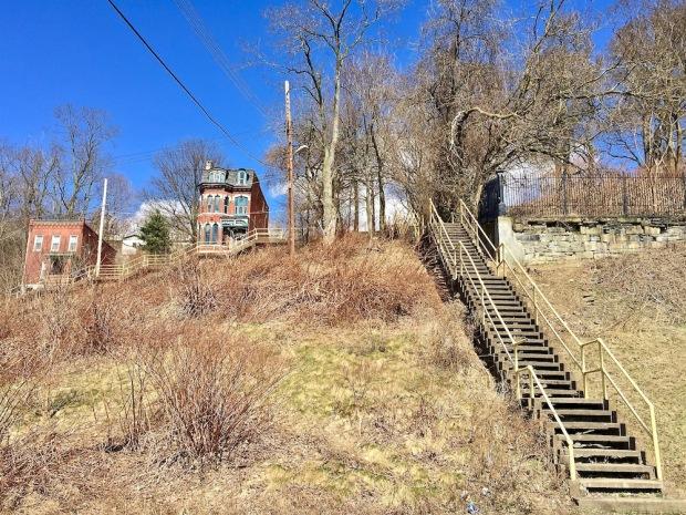 public steps on hillside in Pittsburgh, PA