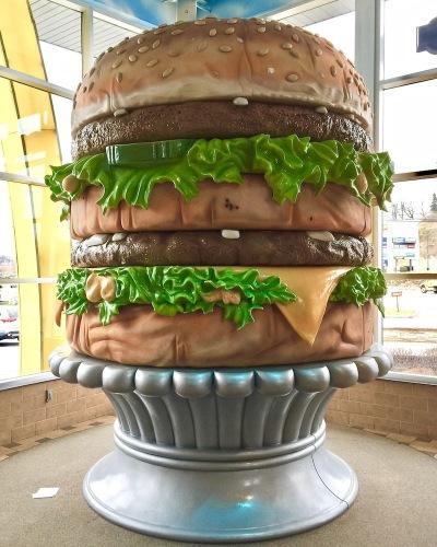 enormous sculpture of Big Mac, Big Mac Museum, North Huntingdon, PA