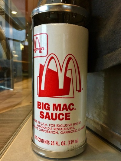 display of Big Mac sauce and gun, Big Mac Museum, North Huntingdon, PA