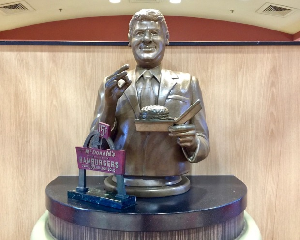 statue of Jim Delligatti, inventor of the Big Mac, at the Big Mac Museum, North Huntingdon, PA