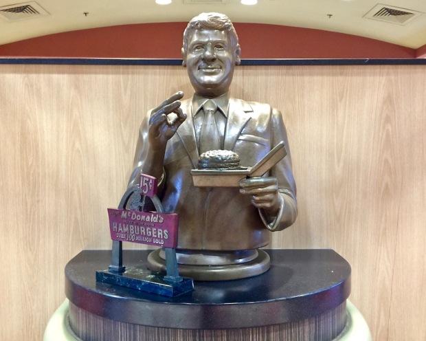 statue of Jim Delligatti, inventor of the Big Mac, at the Big Mac Museum, North Huntingdon, PA