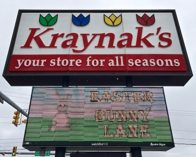 exterior sign for Kraynak's store, Hermitage, PA