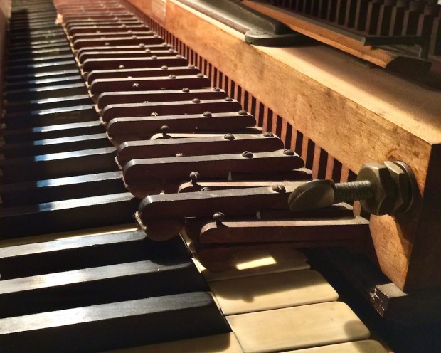 wooden piano attachment to mechanically play a standard piano at DeBence Antique Music World
